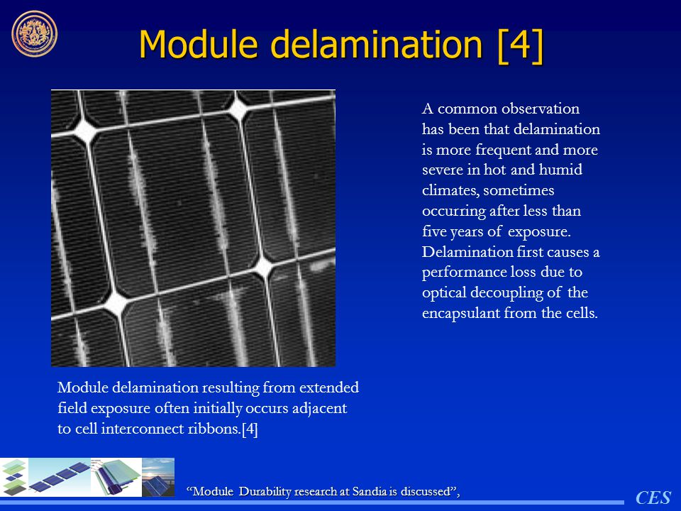 Module delamination [4]